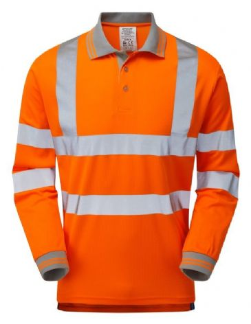 Pulsar PR470 Rail Spec Long Sleeve Polo Shirt (Orange)